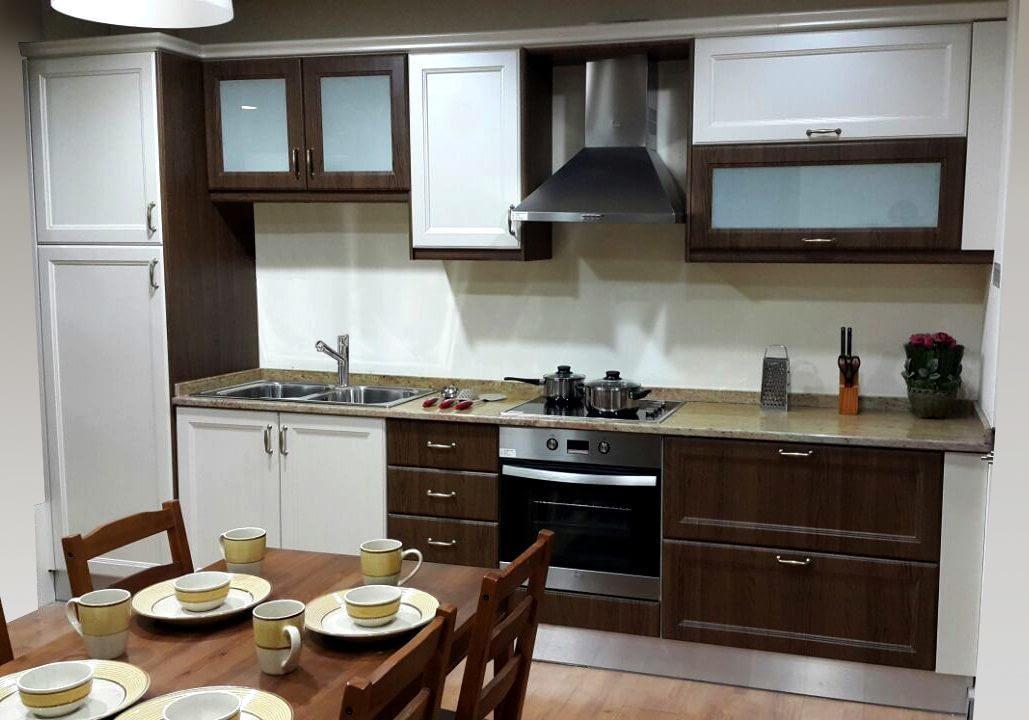 Thermofoil kitchen wooden grain color