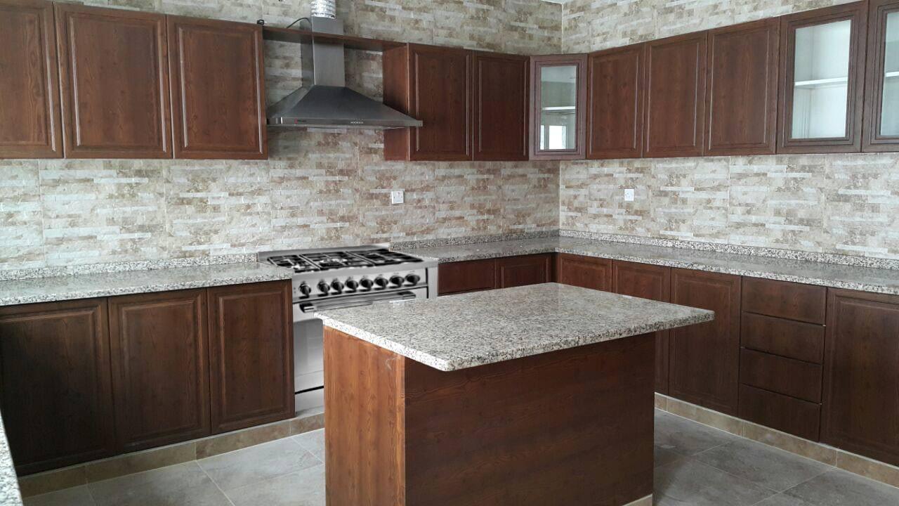 Aluminium kitchen wooden finish type: Alutech