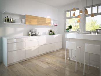 Handle less Kitchen with SlideLine M